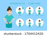 appendicitis symptoms... | Shutterstock .eps vector #1704412420