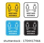 social distancing. keep the 1 2 ... | Shutterstock .eps vector #1704417466
