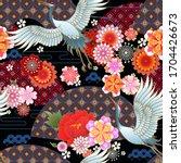 seamless spring japanese... | Shutterstock .eps vector #1704426673