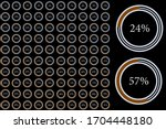 percentage pie chart set...