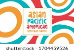 asian pacific american heritage ...   Shutterstock .eps vector #1704459526