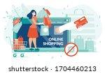 online shopping on covid19... | Shutterstock .eps vector #1704460213