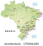map of brazil as an overview... | Shutterstock . vector #170446184
