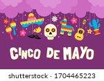 cinco de mayo mexican holiday... | Shutterstock .eps vector #1704465223