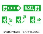 signs of direction during... | Shutterstock .eps vector #1704467053