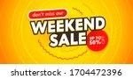 weekend sale banner for digital ... | Shutterstock .eps vector #1704472396