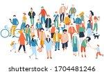 coronavirus epidemic protection ... | Shutterstock .eps vector #1704481246
