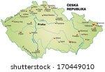 map of czech republic as an... | Shutterstock . vector #170449010