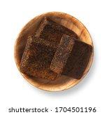 Dark Brown Sugar Cubes Isolated ...