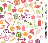 seamless pattern composed from... | Shutterstock .eps vector #170450270