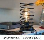 Vintage Iron Spiral Lamp In...