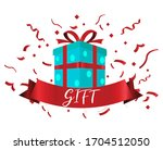 celebration gift with ribbons ... | Shutterstock .eps vector #1704512050