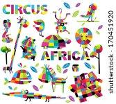 vector set of wild animals | Shutterstock .eps vector #170451920