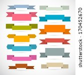 retro ribbons  labels  tags set ...