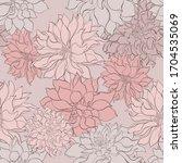 vintage floral seamlesson pink...   Shutterstock .eps vector #1704535069