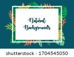 natural leaf backgrounds. white ... | Shutterstock .eps vector #1704545050