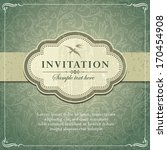 vintage background frame... | Shutterstock .eps vector #170454908