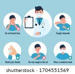prevention 2019 ncov covid 19...   Shutterstock .eps vector #1704551569