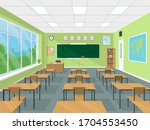 school or college classroom...   Shutterstock .eps vector #1704553450