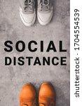 Social Distance Concept....
