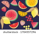 colorful different fruit. high...   Shutterstock . vector #1704557296