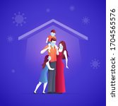 family is protecting their... | Shutterstock .eps vector #1704565576
