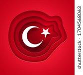 vector illustration of turkish... | Shutterstock .eps vector #1704568063