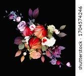 bouquet of flowers....   Shutterstock .eps vector #1704574246