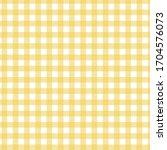 Seamless Yellow Gingham Check...