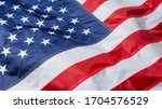 Waving flag of united states of ...