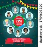 international nurses day on 12...   Shutterstock .eps vector #1704605320