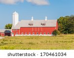 Big Barn And Silo. Agriculture...