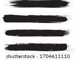 black brush stroke set isolated ...   Shutterstock .eps vector #1704611110