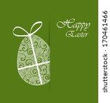 green background with easter egg | Shutterstock .eps vector #170461466