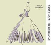 art sketching beautiful young ...   Shutterstock .eps vector #170461658