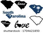 south carolina map. us state...   Shutterstock .eps vector #1704621850