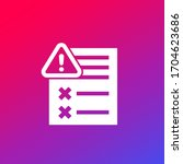 error report icon for web | Shutterstock .eps vector #1704623686