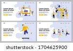 people celebrating and voting... | Shutterstock .eps vector #1704625900