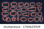 retro light frames. vector set...   Shutterstock .eps vector #1704625939
