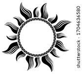 polynesian tattoo design.... | Shutterstock .eps vector #1704636580