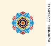 mandala. round ornament pattern.... | Shutterstock .eps vector #1704639166