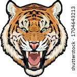 Detailed Full Color Tiger Head...