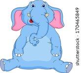 cute elephant cartoon | Shutterstock .eps vector #170465849
