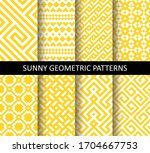vector set of yellow ornamental ... | Shutterstock .eps vector #1704667753