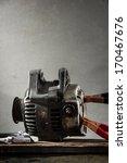 an automobile alternator used... | Shutterstock . vector #170467676