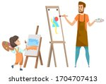 art club after lessons for...   Shutterstock .eps vector #1704707413