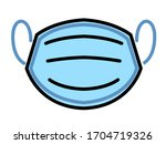 mouth guard  medicine mask... | Shutterstock .eps vector #1704719326