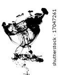 abstract black ink in water... | Shutterstock . vector #17047261