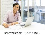 portrait of smiling... | Shutterstock . vector #170474510