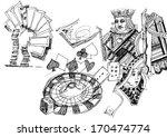 gambling illustration hand drawn | Shutterstock . vector #170474774